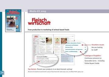 Media-Kit 2009 - fleischwirtschaft.com - Allgemeine Fleischer Zeitung
