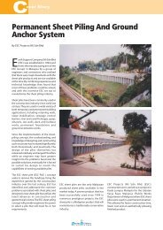 Permanent Sheet Piling And Ground Anchor System