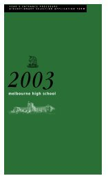 Application for Discretionary Entrance 2003