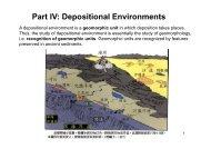 Part IV: Depositional Environments