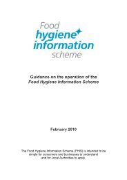 Food Hygiene Information Scheme - Angus Council