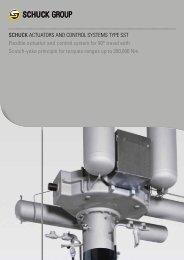 Catalog actuators - Franz Schuck GmbH