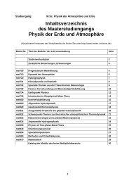 Modulhandbuch - Meteorologisches Institut der Universität Bonn