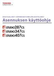 Asennuksen käyttöohje - Toshiba Tec Nordic