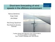 Short-term forecasting of wind speeds in the offshore environment