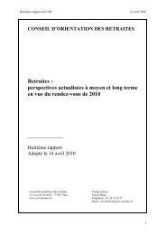 Perspectives actualisées à moyen et long terme - Conseil d ...
