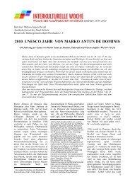 2010 UNESCO JAHR VON MARKO ANTUN DE DOMINIS