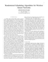 Randomized Scheduling Algorithms for Wireless Sensor Networks