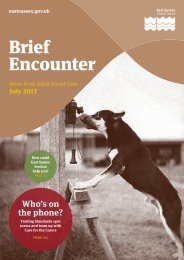 Brief Encounter July 2013 - East Sussex County Council