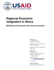 Regional Economic Integration in Africa: Building on Successes and ...