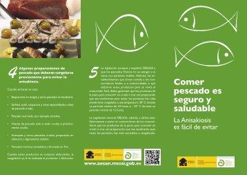 Tríptico anisakis - Agencia Española de Seguridad Alimentaria y ...
