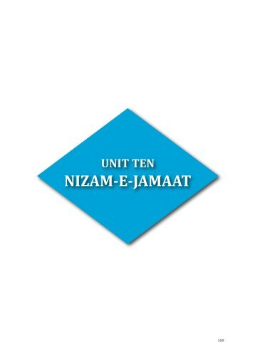 NIZAM-E-JAMAAT - Majlis Khuddamul Ahmadiyya UK