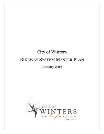 City of Winters Bikeway System Master Plan