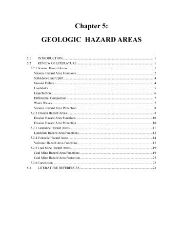 Chapter 5: GEOLOGIC HAZARD AREAS - King County