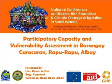 Participatory Capacity and Vulnerability Assessment in Barangay ...
