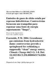 Emissões de gases de efeito estufa por represas hidrelétricas ...