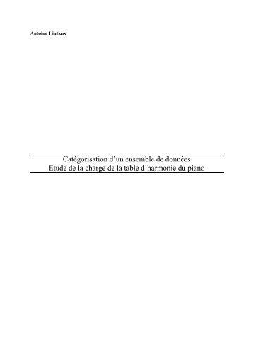 Etude de la charge de la table d'harmonie du piano - atiam - WWW ...
