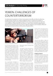 yemen: challenges of counterterrorism - Center for Security Studies ...