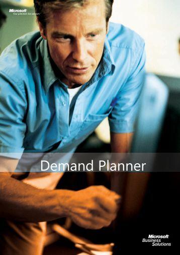 Demand Planning datablad i .pdf - ProFacto A/S