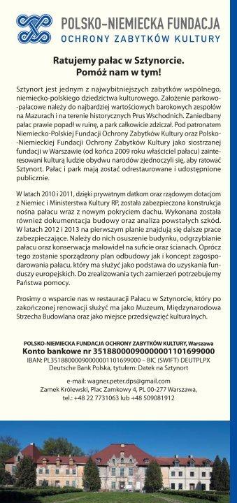 POLSKO-NIEMIECKA FUNDACJA - Deutsch-Polnische Stiftung