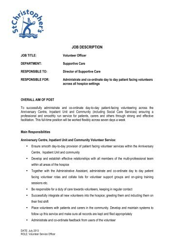 job description volunteer counsellors whilst mosac. Black Bedroom Furniture Sets. Home Design Ideas