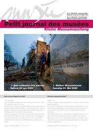 Petit journal des musées - Musées Valais