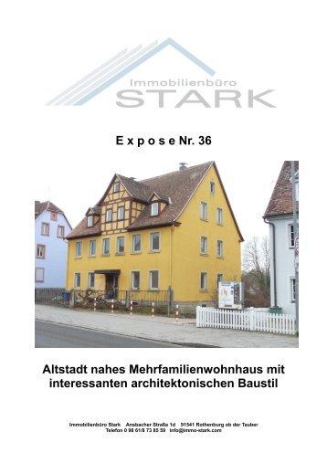 E xpose Nr. 36 Altstadt nahes Mehrfamilienwohnhaus ... - Immo-Stark