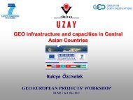 GEO infrastructure and capacities in Central Asian Countries