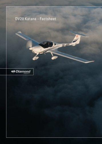 DV20 Katana - Factsheet - Diamond Aircraft UK