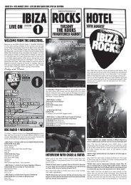 Issue 10 – 4th August – Radio 1 w/end - Ibiza Blog