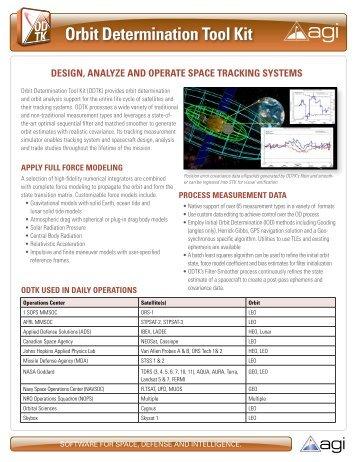 Orbit Determination Tool Kit (ODTK )Flyer - AGI