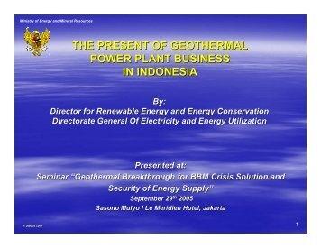 the present of geothermal power plant business in ... - Fortuga.com
