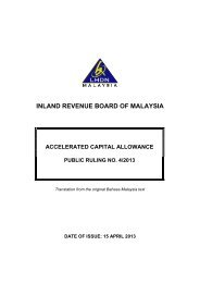 inland revenue board of malaysia - Malaysian Institute of Accountants
