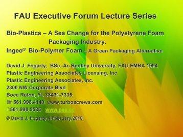 Turbo-Screws® technology for Ingeo PLA Foams - Plastic ...