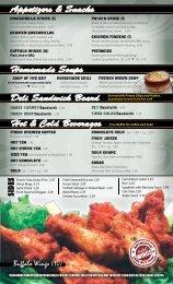 Appetizers & Snacks Homemade Soups Deli ... - Whitehall Diner