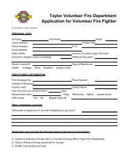 Volunteer Fire Department Application Forms on volunteer library application, volunteer fire company, fire department job application, volunteer fire recruit,
