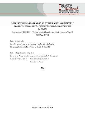TRABAJO FINAL DEL PROYECTO DE INVESTIGACION: - Cedoc