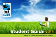 Student Guide 2011 - TAFE NSW - Northern Sydney Institute