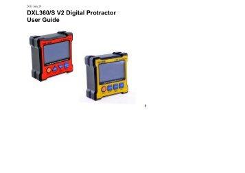 DXL360/S V2 Digital Protractor User Guide - Spot-on.net