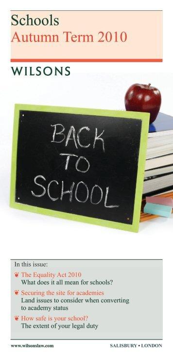 Schools - Wilsons