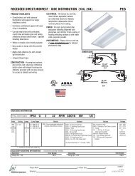 recessed direct/indirect - side distribution (1x4 ... - LSI Industries Inc.