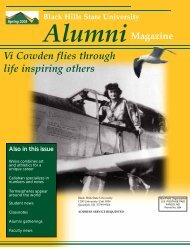 Vi Cowden flies through life inspiring others - Black Hills State ...