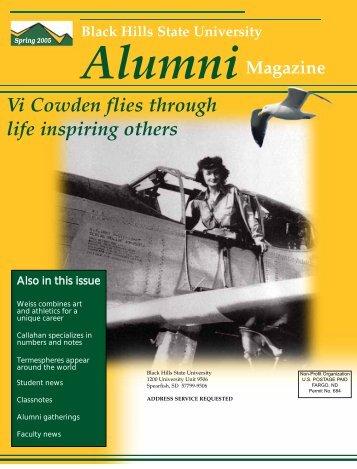 Vi Cowden flies through life inspiring others - Black Hills State ...