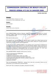 PV 3 - 24 janvier 2009 - Extranet FFVB