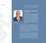 Editorial (Dr. Klaus Walter, Vorsitzender)