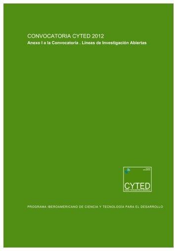 Líneas de Investigación abiertas - Cyted
