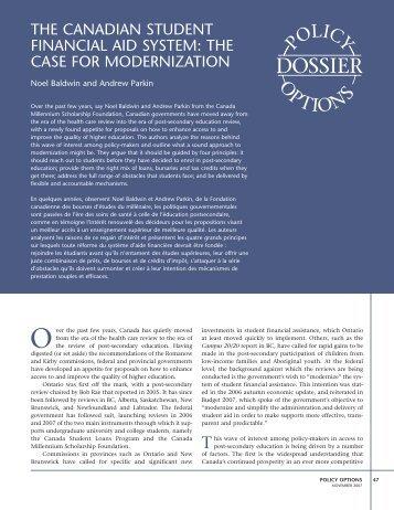 The Case for Modernization - Carleton University Library