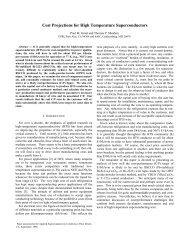 Cost Projections for High Temperature Superconductors - arXiv