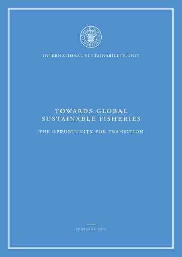 towards global sustainable fisheries - International Sustainability Unit