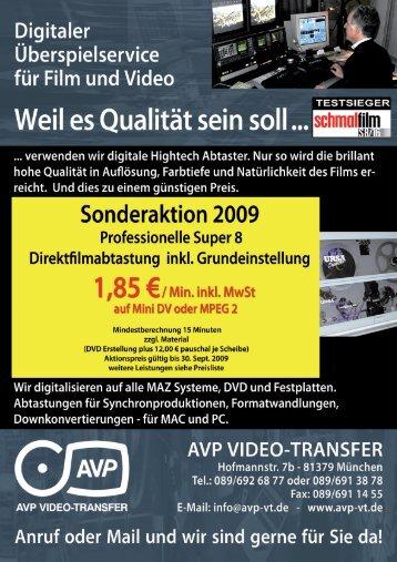 AUFTRAGSFORMULAR für Sommeraktion 2009 - Avp-vt.de